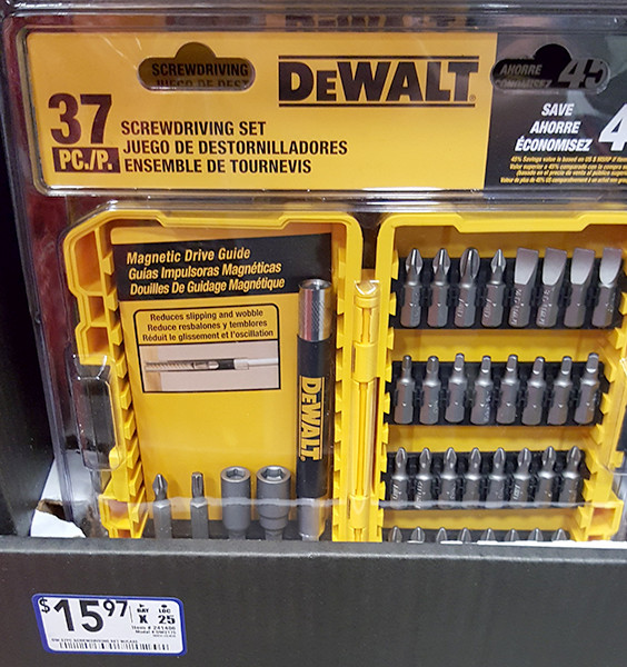 Dewalt 37pc Screwdriver Bit Set Lowes Holiday 2015