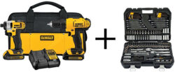 HD Cyber Monday Deal: Dewalt Drill & Impact Combo + Mechanics Tool Set