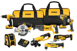Dewalt 9-Tool Cordless Power Tool Combo Deal!