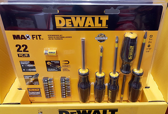 Dewalt MaxFit Screwdriver Set Home Depot Holiday 2015