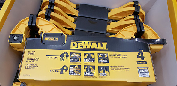 Dewalt Trigger Clamp Set Features Closeup Home Depot Holiday 2015