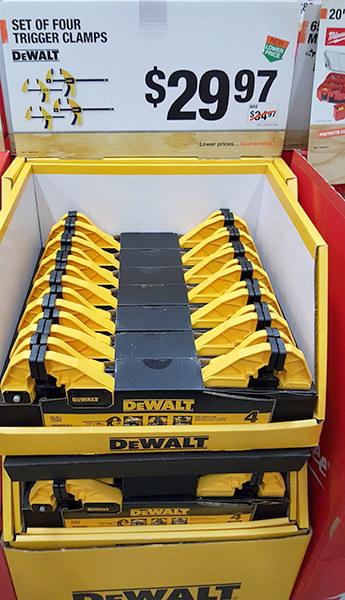 Dewalt Trigger Clamp Set Home Depot Holiday 2015
