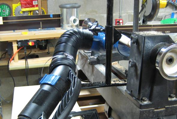 Dust Right Lathe Dust Collection System Vacuum Hookup