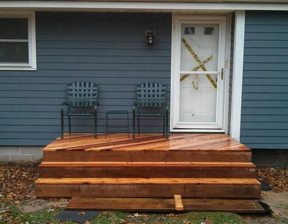 Finished Wood Deck
