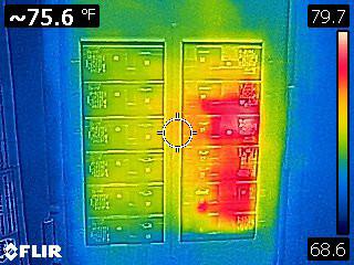 Flir C2 Thermal Image of Circuit Breaker Panel for Comparison