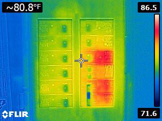 Flir E4 Thermal Image of Circuit Breaker Panel for Comparison
