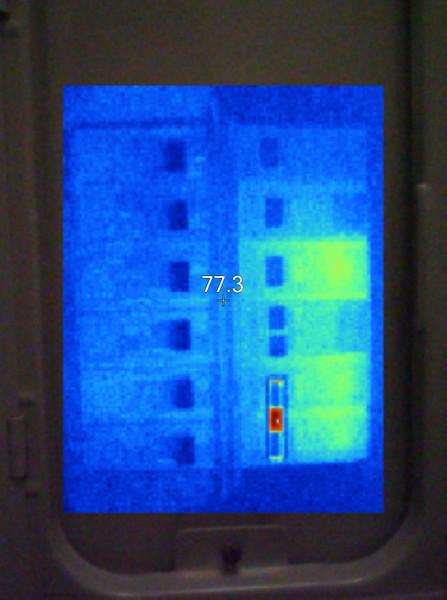 Fluke Ti110 Thermal Image of Circuit Breaker Panel