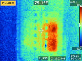 Fluke TiS10 Thermal Image of Circuit Breaker Panel
