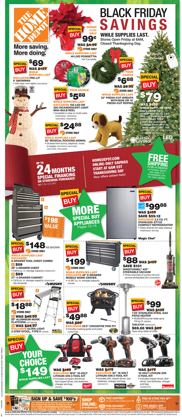 Home Depot Black Friday 2015 Tool Deals Page 1