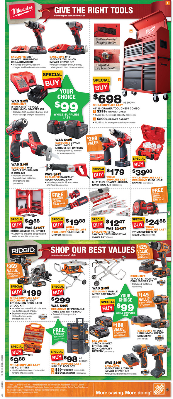 Blackfriday Tool Sale Home Depot