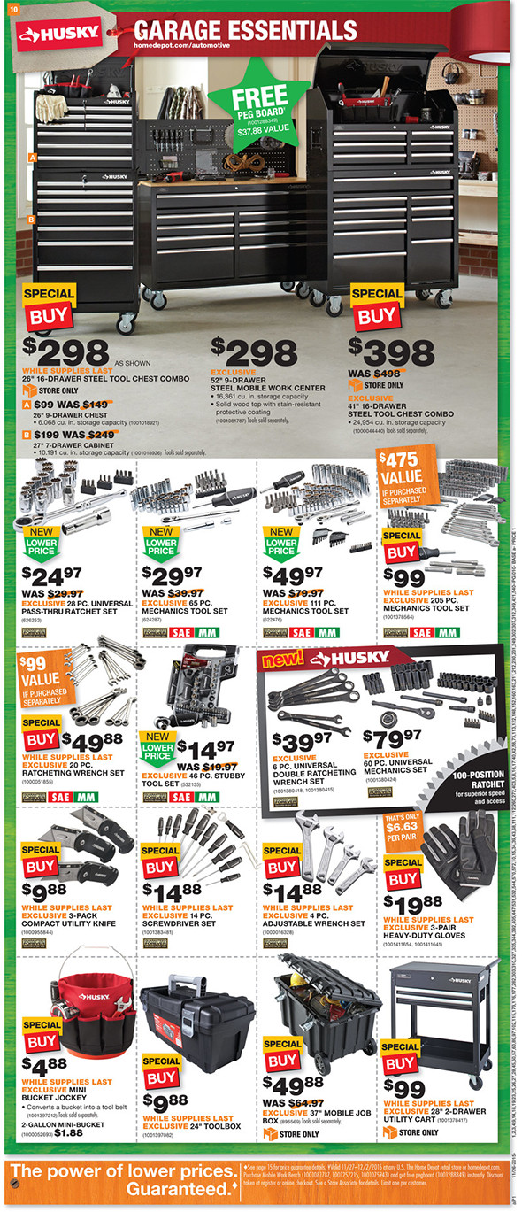 just posted home depot black friday 2015 ad tool pages. Black Bedroom Furniture Sets. Home Design Ideas