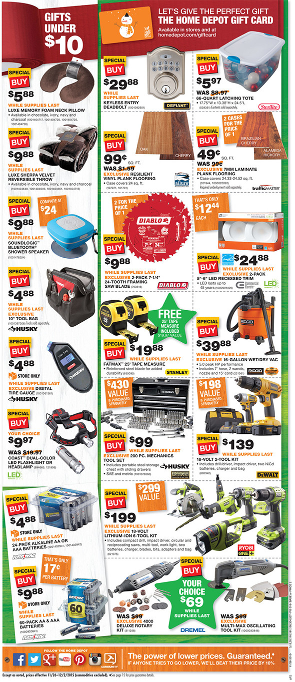 Home Depot Black Friday 2015 Tool Deals Page 8