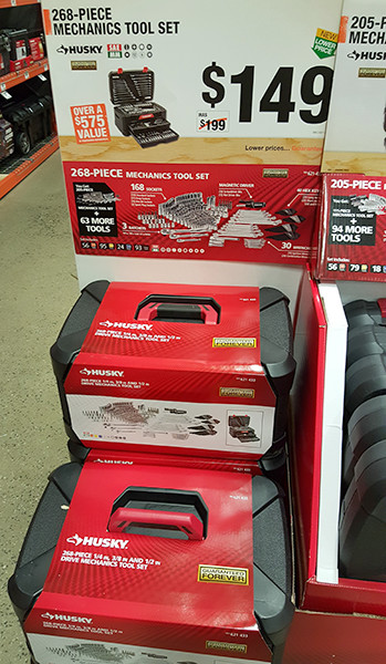 Husky 268pc Mechanics Tool Set Home Depot Holiday 2015