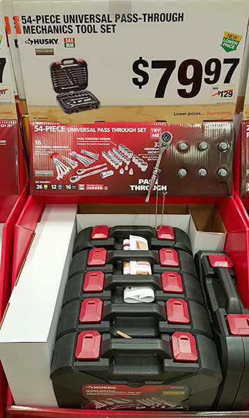 Husky Pass-Thru Mechanics Tool Set Home Depot Holiday 2015