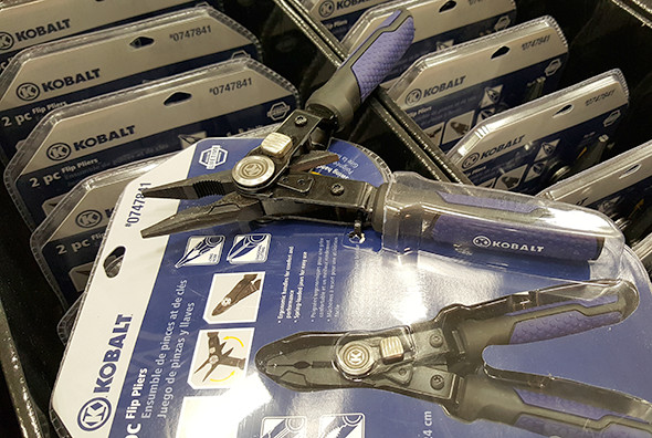 Kobalt Flip Pliers Closeup Lowes Holiday 2015