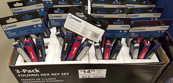 Kobalt Folding Hex Key Display Lowes Holiday 2015