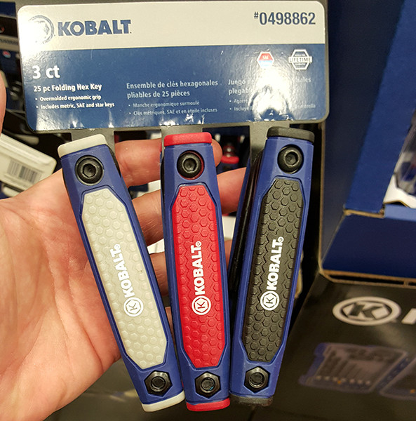 Kobalt Folding Hex Key Set Lowes Holiday 2015