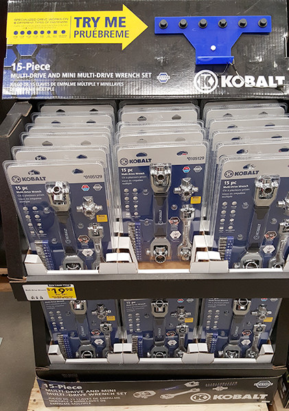 Kobalt Multi-Drive Wrench Display Lowes Holiday 2015