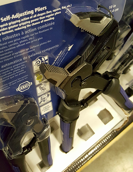 Kobalt Self-Adjusting Pliers Closeup Lowes Holiday 2015