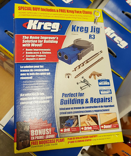 Kreg r3 pocket hole jig with bonus clamp bundle kreg r3 pocket hole bonus pack home depot holiday 2015 solutioingenieria Choice Image