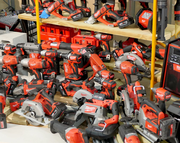 Lots of Milwaukee M18 Tools