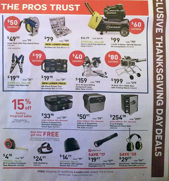 Lowes Black Friday 2015 Tool Deals Page 6