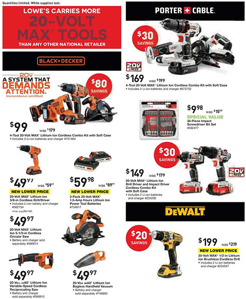 Lowes Black Friday Pre-Sale Page 2