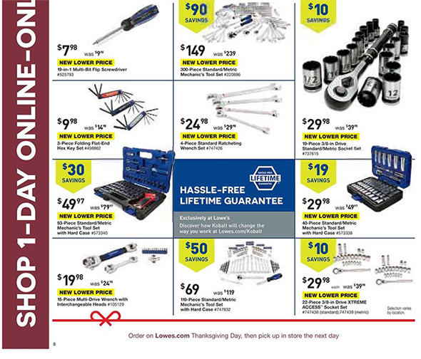Lowes Black Friday Pre-Sale Page 4
