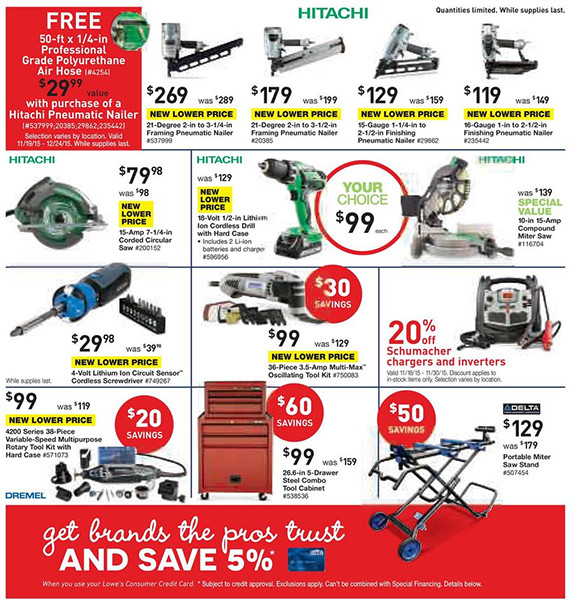 Lowes Black Friday Pre-Sale Page 5
