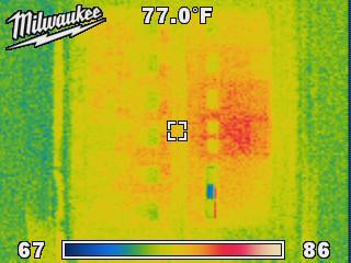 Milwaukee Thermal Imaging Camera Showing Circuit Breaker Panel