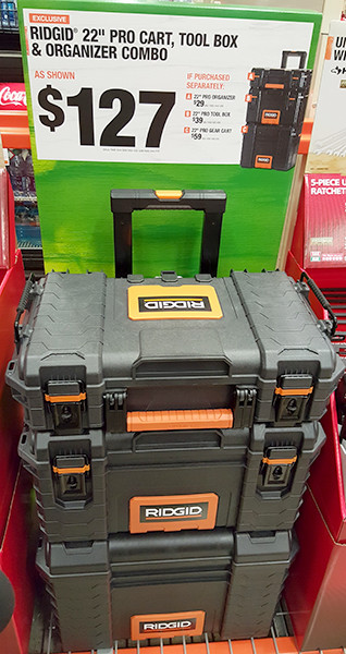 Ridgid Pro Tool Box Home Depot Black Friday 2015 Deal