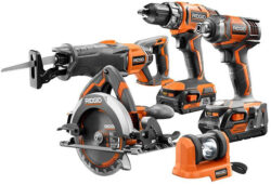 Deal of the Day: Ridgid 5pc 18V Cordless Power Tool Combo Kit (11/29/15)