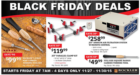 Rockler Black Friday 2015 Tool Deals Page 1