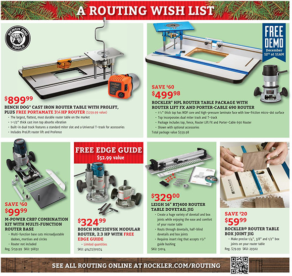 Rockler Black Friday 2015 Tool Deals Page 11
