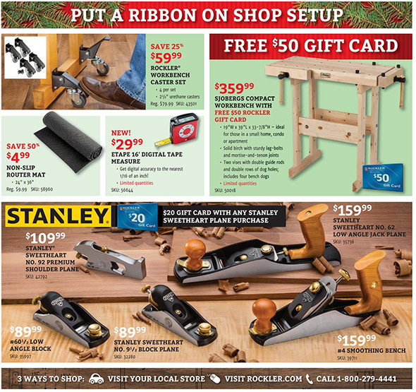 Rockler Black Friday 2015 Tool Deals Page 13