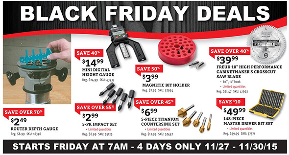 Rockler Black Friday 2015 Tool Deals Page 15