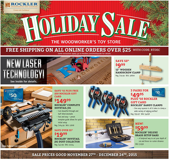 Rockler Black Friday 2015 Tool Deals Page 3