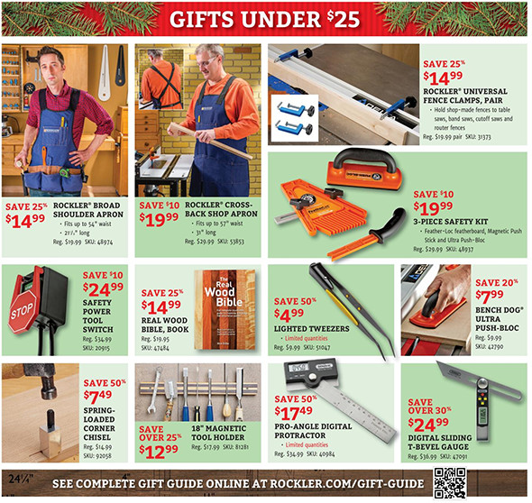 Rockler Black Friday 2015 Tool Deals Page 4