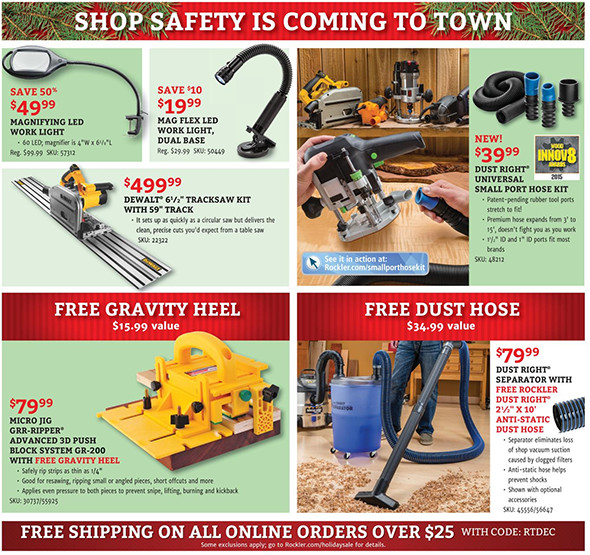 Rockler Black Friday 2015 Tool Deals Page 5