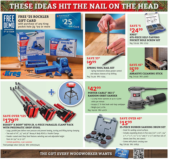 Rockler Black Friday 2015 Tool Deals Page 6