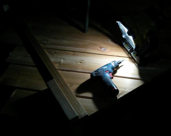 Using Ryobi light on my deck