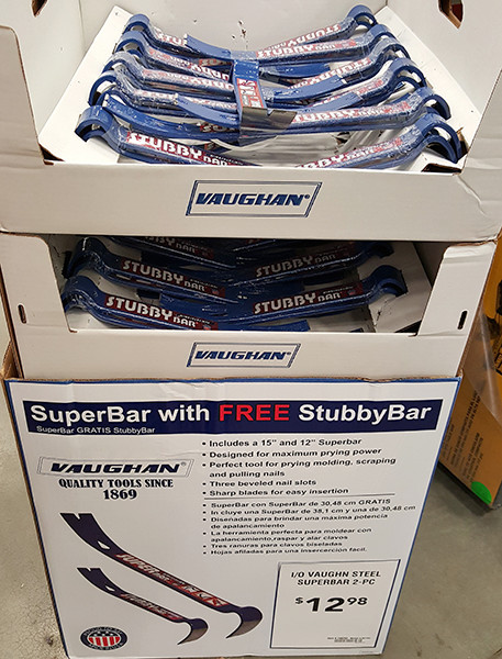 Vaughan SuperBar Pry Bar with Free StubbyBar Lowes Holiday 2015