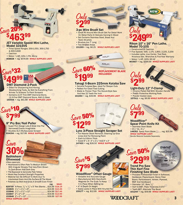 Woodcraft Black Friday 2015 Tool Deals Pages 2-3