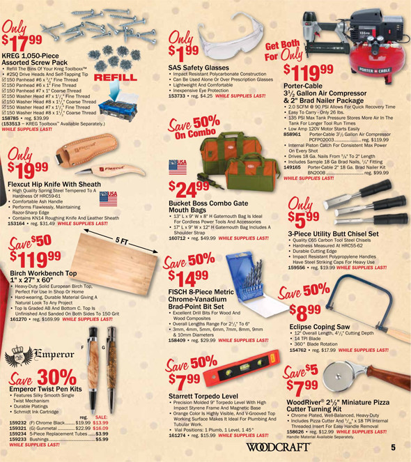 Woodcraft Black Friday 2015 Tool Deals Pages 4-5