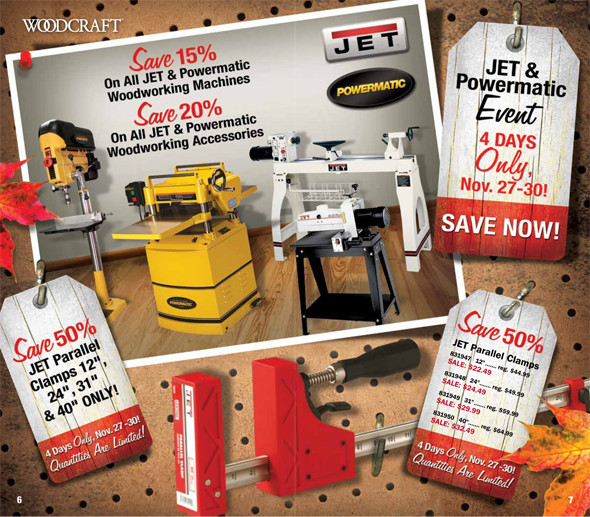 Woodcraft Black Friday 2015 Tool Deals Pages 6-7