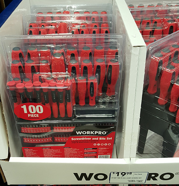 WorkPro 100pc Screwdriver Set Lowes Holiday 2015