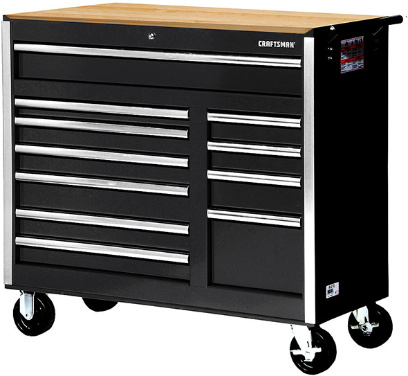 Craftsman 42-inch 11-drawer ball bearing roller cabinet