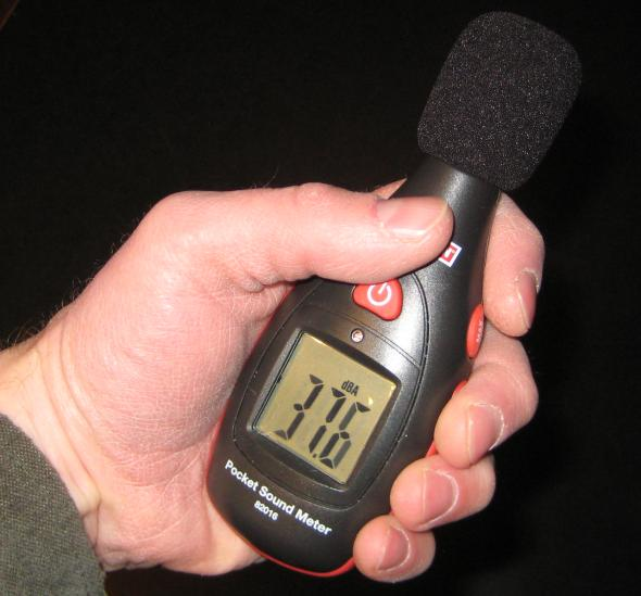 Craftsman sound meter in the hand 1