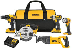 Deal of the Day: Dewalt 20V Max 5pc Cordless Combo, Corded Grinder 2-Pack, Rotary Hammer Bonus Set (4/14/17)