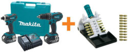 Deal of the Day: Makita Drill and Impact Driver Combo, Plus Bit Set (12/17/15)